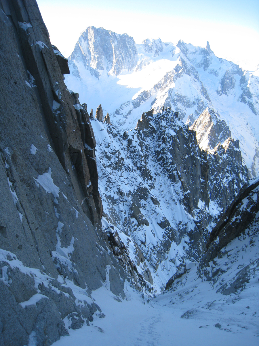 The views are spectacular, the Grandes Jorasses in the back